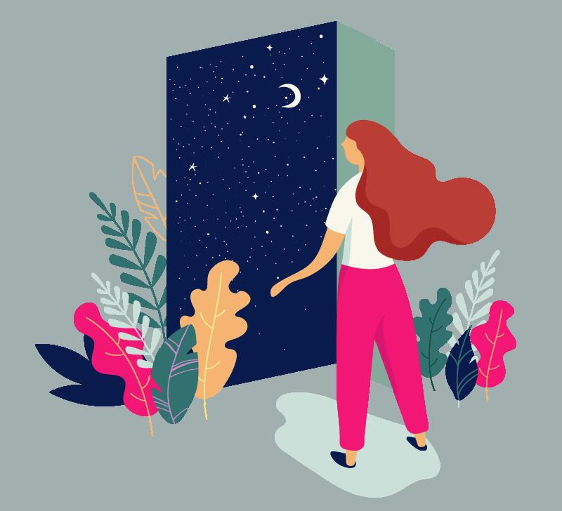 woman looking through window - Corelife wellness story