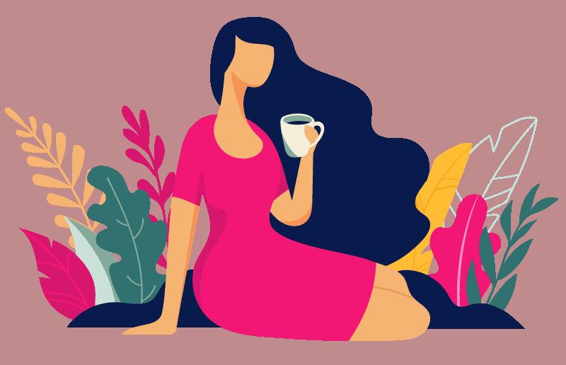 woman with mug - Corelife wellness pelvic health specialists