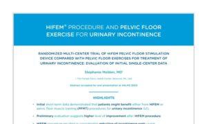 Randomized Multi-Center Trial of HIFEM for urinary incontinence