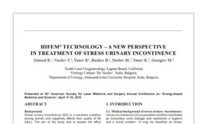 HIFEM Technology – A New Perspective in Treatment of Stress Urinary Incontinence